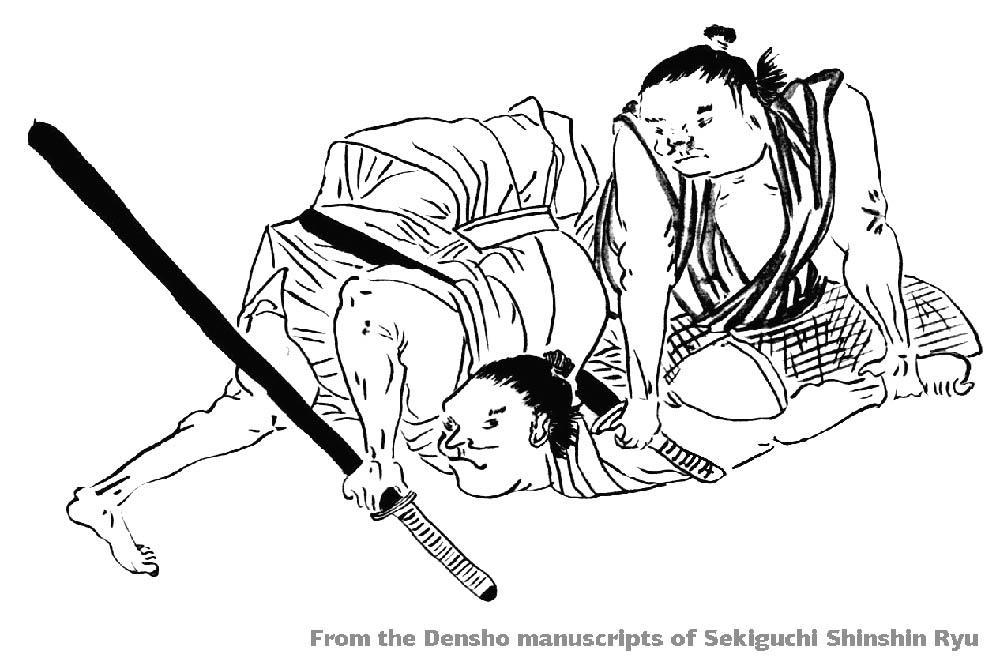 From the Densho manuscripts of Sekiguchi Shinshin Ryu